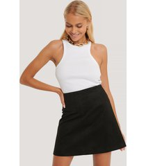na-kd mini suede skirt - black