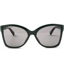 balenciaga balenciaga bb0150s black sunglasses