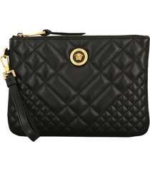 versace clutch quilted icon versace wrist clutch in quilted leather