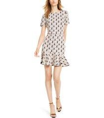 trina trina turk flounce-hem a-line dress