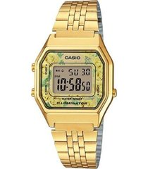 reloj digital mujer casio la-680wga-9c - dorado con amarillo  envio gratis*
