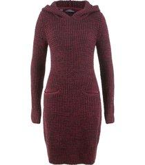 abito in maglia con cappuccio (rosso) - bpc bonprix collection