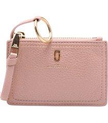 marc jacobs top zip leaher wallet