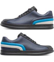 camper twins, sneaker uomo, blu/nero/beige, misura 46 (eu), k100489-002