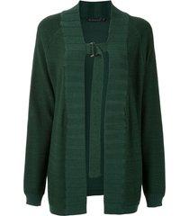 alcaçuz parma knit cardi-coat - green