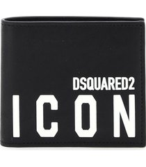 dsquared2 icon print leather wallet