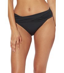 bleu by rod beattie kore sarong hipster bikini bottoms, size 10 in black at nordstrom