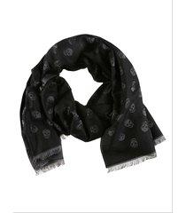 alexander mcqueen all over skull scarf