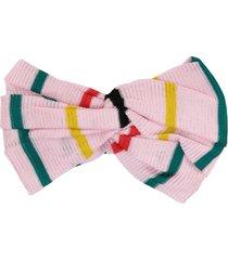 missoni striped headband - pink