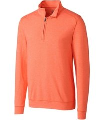 cutter & buck men's big & tall shoreline half zip sweatshirt