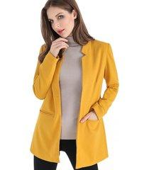 blazer largo amarillo nicopoly