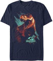 jurassic world men's t. rex computer screen short sleeve t-shirt