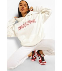 oversized kerst hoodie, off white