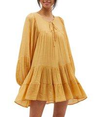 minkpink banyon tiered swing dress