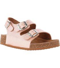 sandalia cuero brick rosa