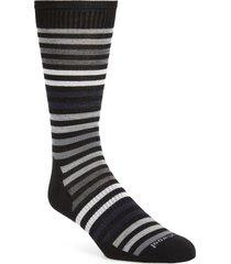 men's smartwool spruce street stripe merino wool blend socks, size large - black