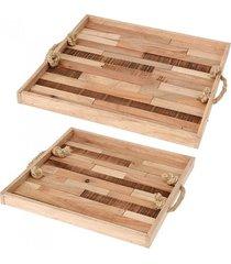 taca 2 szt. z kawałków drewna
