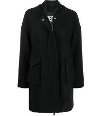 diesel double-weave braided jacket - black
