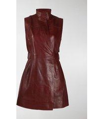 ganni long belted waistcoat