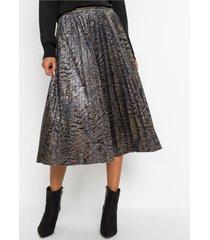 fluwelen plissé rok