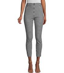 jessalyn gingham stretch cotton pants