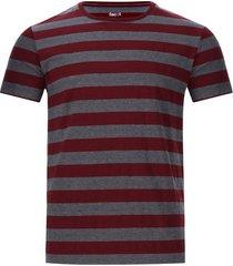 camiseta a rayas dos colores color vino, talla xl