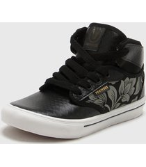 zapatilla negro prowess flores