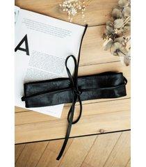 cintura premaman - leather belt