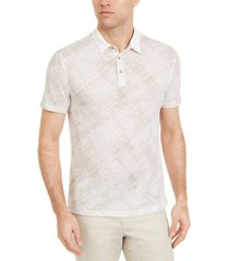 alfani men's criss cross polo shirt, created for macy's