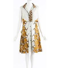 proenza schouler floral print midi shirt dress