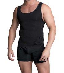 camiseta reductora seamless negro baziano