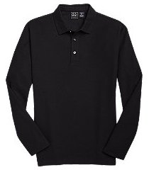 traveler collection traditional fit long sleeve pique men's polo shirt clearance