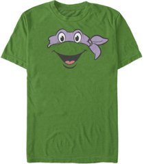 nickelodeon teenage mutant ninja turtles donatello big face short sleeve t-shirt