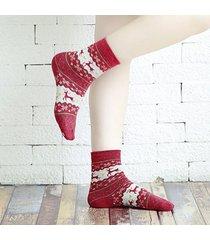 donne lana calze calze lunghe calze elk animal pattern calze regali di natale