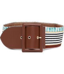 missoni elasticated stripe-knit belt - brown