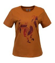 tshirt estampada made in mato rooster curry amarelo