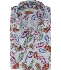korte mouwen overhemd bugatti print