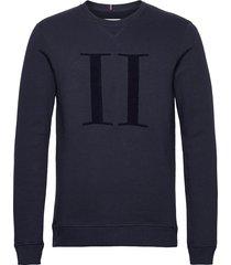 encore bouclé sweatshirt sweat-shirt trui blauw les deux