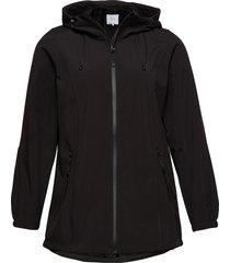 softshell jacket water repellent soft and warm sommarjacka tunn jacka svart zizzi
