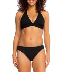 point halter bikini top