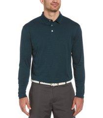 pga tour men's ottoman long-sleeve polo shirt