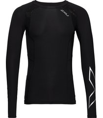 compression l/s top-m t-shirts long-sleeved zwart 2xu
