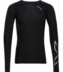 compression l/s top-m t-shirts long-sleeved zwart 2xu