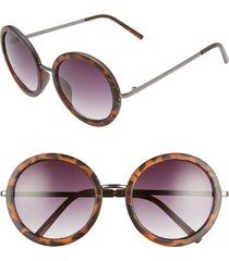women's bp. 50mm gradient round sunglasses - brown tort