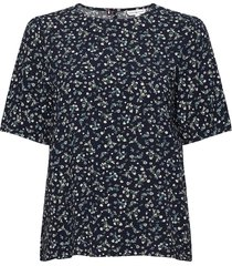 raya top ss blouses short-sleeved blauw tommy hilfiger