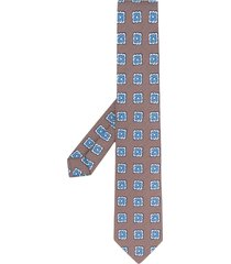 borrelli floral pattern tie - neutrals