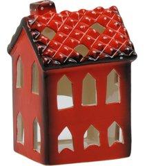 porta vela kasa ideia de cerâmica casinha 10x7x8cm - tricae