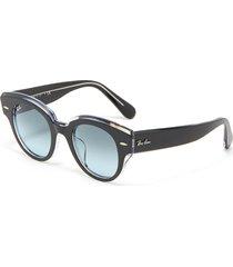 'wayfarer' translucent detail wide acetate frame sunglasses