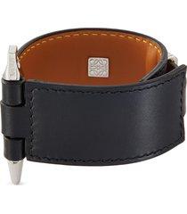 'gate' leather bracelet