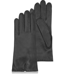 forzieri designer women's gloves, women's cashmere lined black italian leather gloves